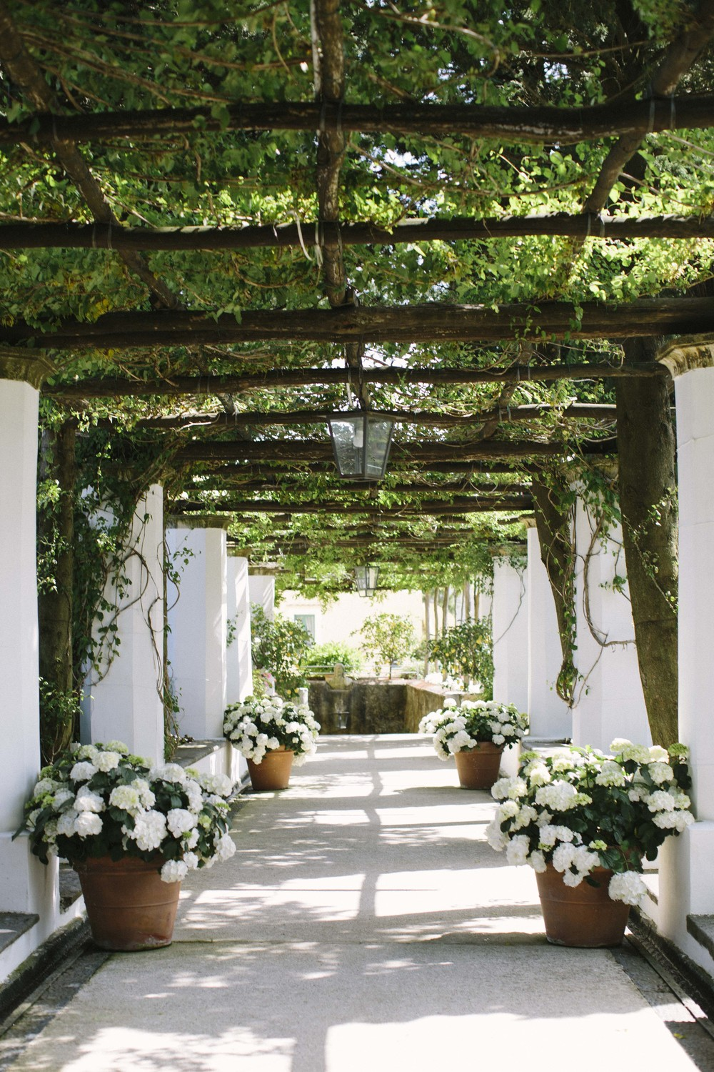 Here is the walkway to the pool area pictured below for our tour guide's other favorite hotel in Amalfi: the Hotel Caruso. Don't worry, this is just where Mark Zuckerburg got married.