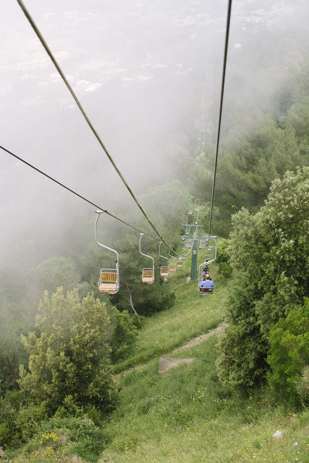 We took the chair lift to the top of Anacapri - the views were amazing and the ride through the clouds was pretty cool too.