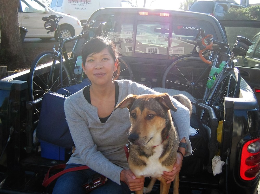 Perry and I back during our days of adventure. Here we are making a pit stop on our way to the Wildflower Triathlon in Paso Robles, CA. He was such a handsome fellow.