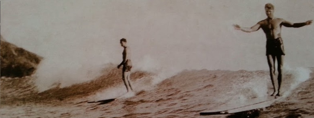 The first to surf Malibu Point, Tom Blake also holds the record for the longest wave ever ridden; over one mile in length.