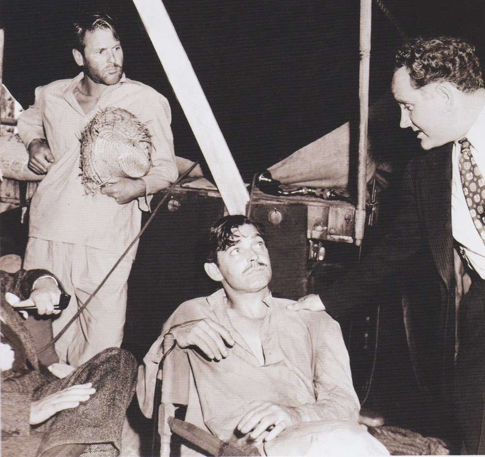 Tom's work as an actor, model and stuntman are oft-overlooked.  (Tom upper left, working as a stunt double for Clark Gable, seated)