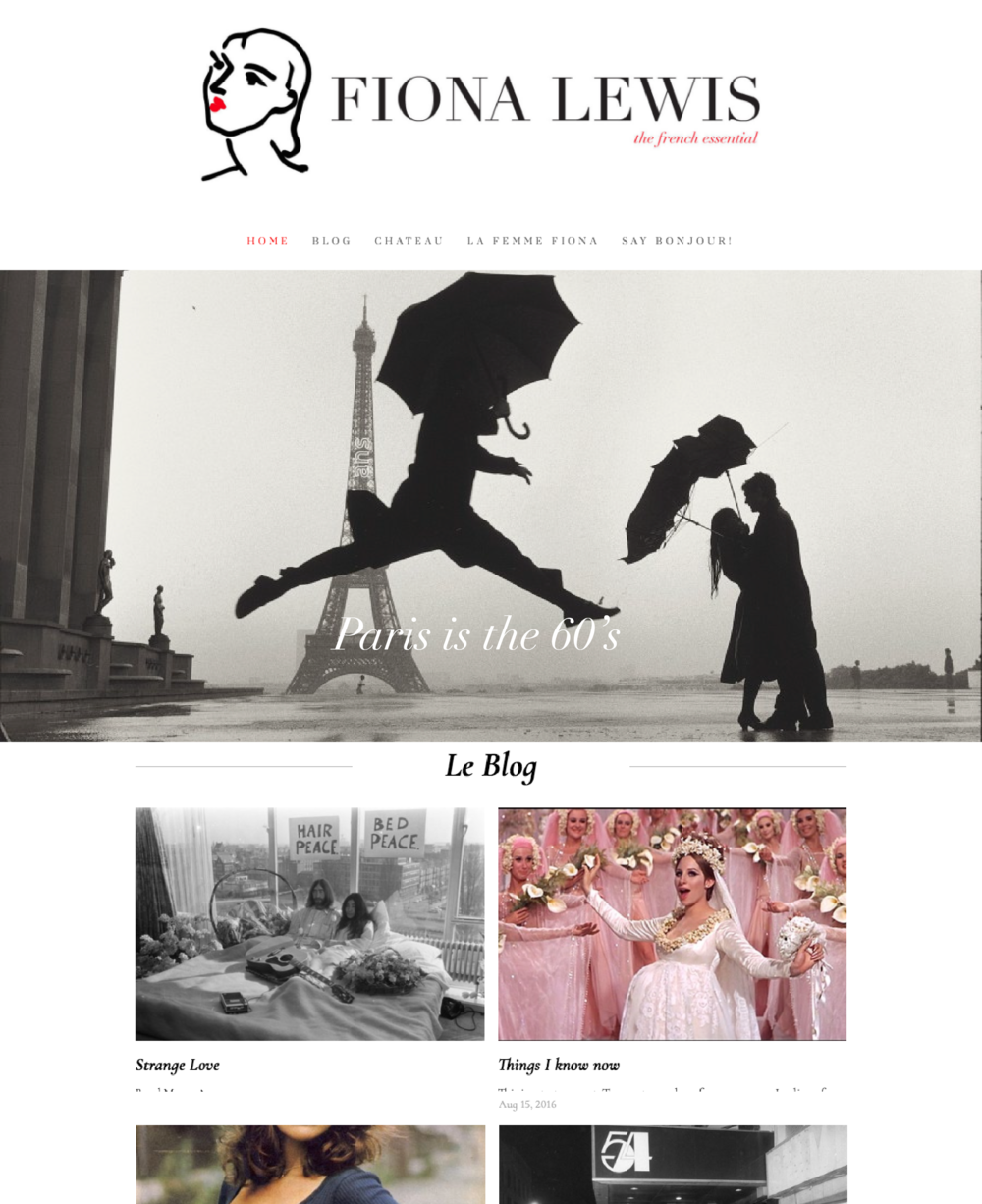 Fiona Lewis Blog Design and Branding