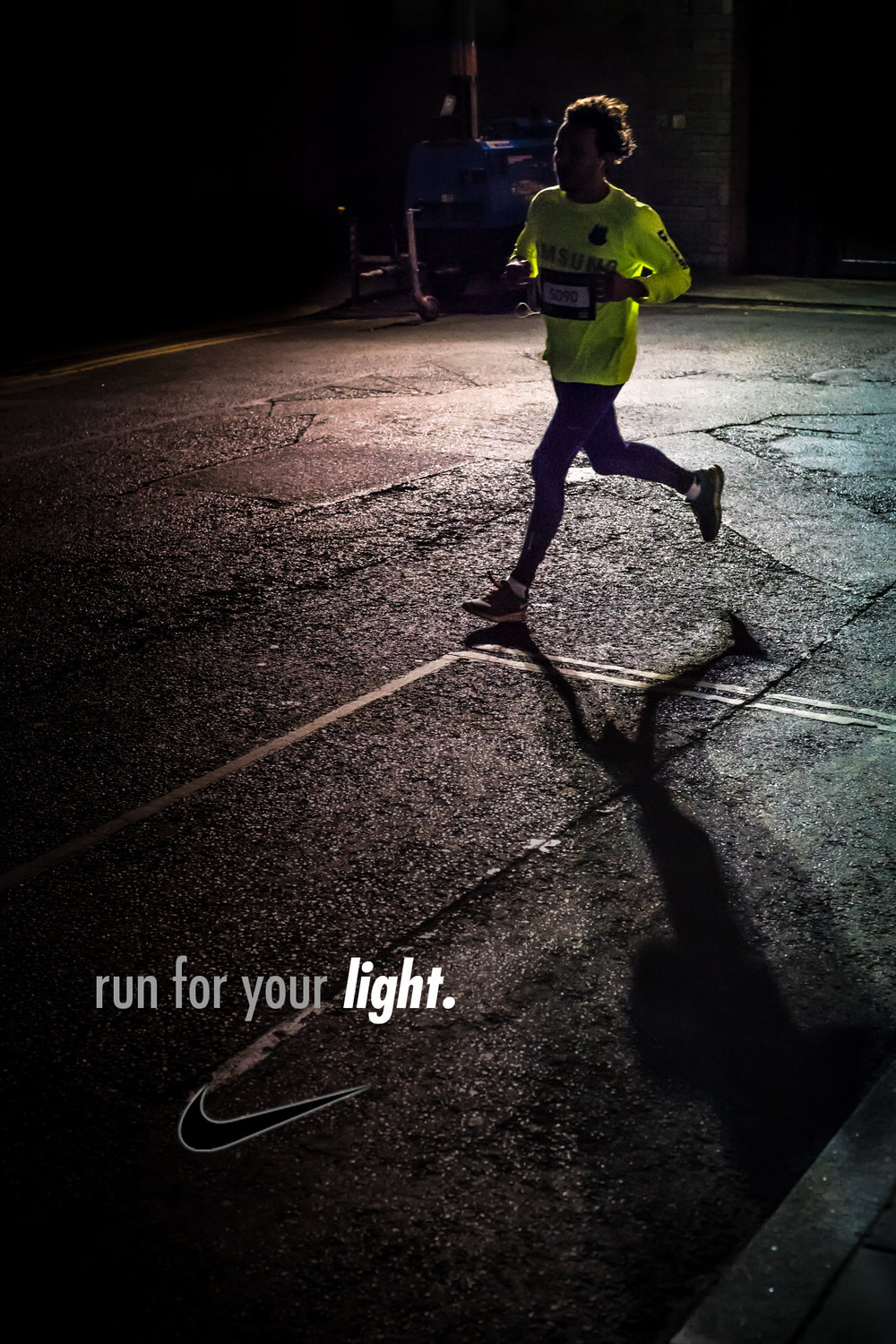 mel blanchard gong ad  nike campaign_night street runner guy yellow.jpg