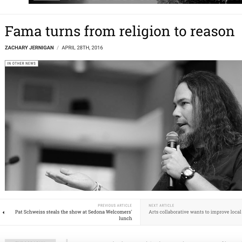 Fama turns from religion to reason  by Zachary Jernigan