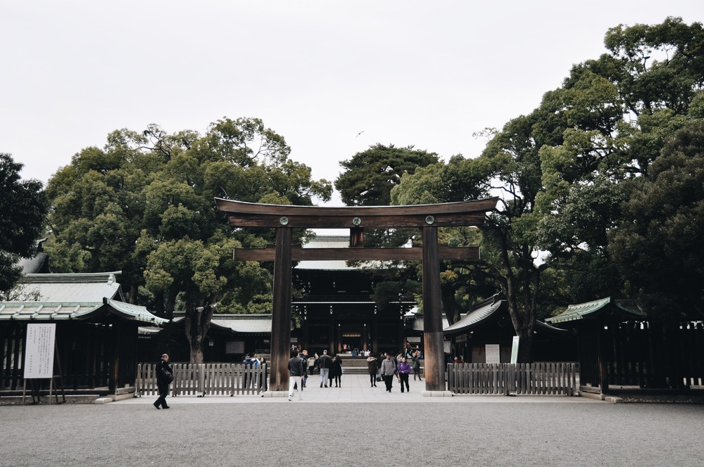 The Meiji Shrine.