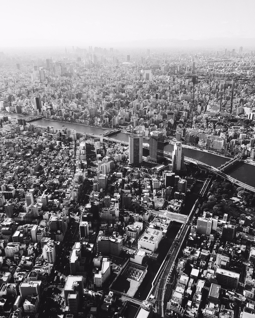 At the top of Tokyo Skytree.