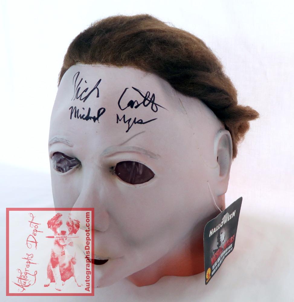 "nick castle signed ""halloween"" michael myers mask — autographs depot"