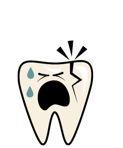 Dental Emergency:Cracked or Broken Tooth - Cracked or Broken teeth should be repaired as soon as possible to prevent further damage.Symptoms may involve pain while chewing and sensitivity to cold and possibly hot foods and liquids as well as air. First Aid for Cracked or Broken TeethRinse your mouth out with warm water to clean the area around the tooth.Use a cold compress on the area to keep any swelling down.Call us IMMEDIATELY for an emergency appointment.