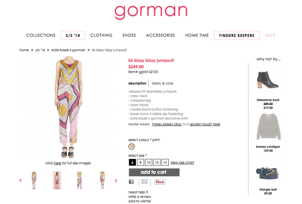 GORMAN X KATE KOSEK: BIZZY BIZZY JUMPSUIT