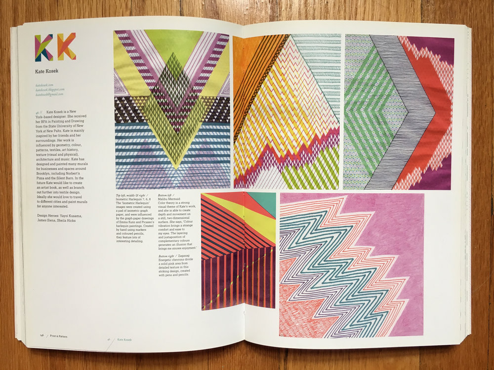 """Print & Pattern Geometric"" by Marie Perkins - Laurence King 2015"