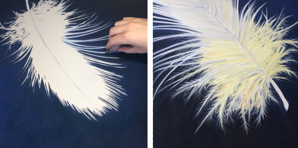 PanPastel feather progress