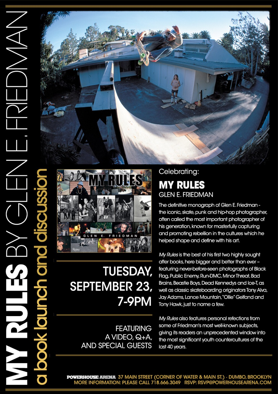 MY Rules Book Release - Brooklyn Sept 23rd, 2014