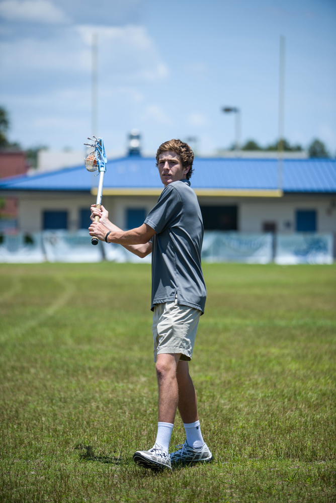 alex.sanchez@staugustine.com Miles Silva, a Junior at Ponte Vedra High School, throws a lacrosse ball with his stick during a photoshoot on Wednesday June 4, 2014. He was chosen as one of the nine allstar atletes of the 2013-2014 school year for Spring sports. He has already commited to Westpoint and plans to attend after he finishes his senior year.