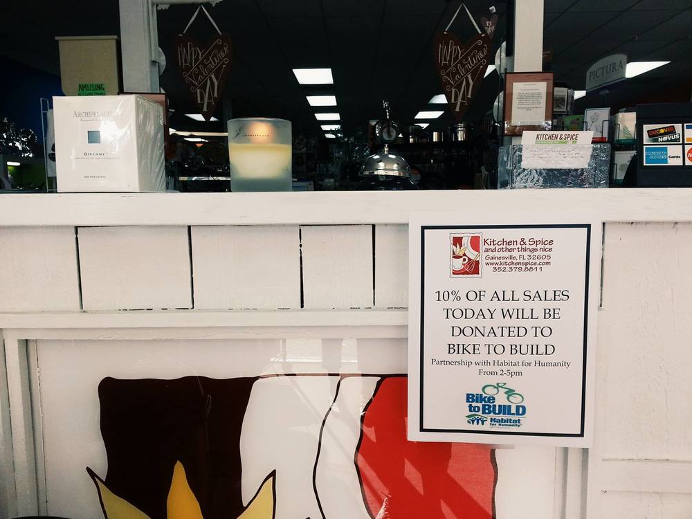 Our second fundraiser was held at Kitchen and Spice, a local kitchen appliance story, that allowed for 10% of all sales be donated to our cause.