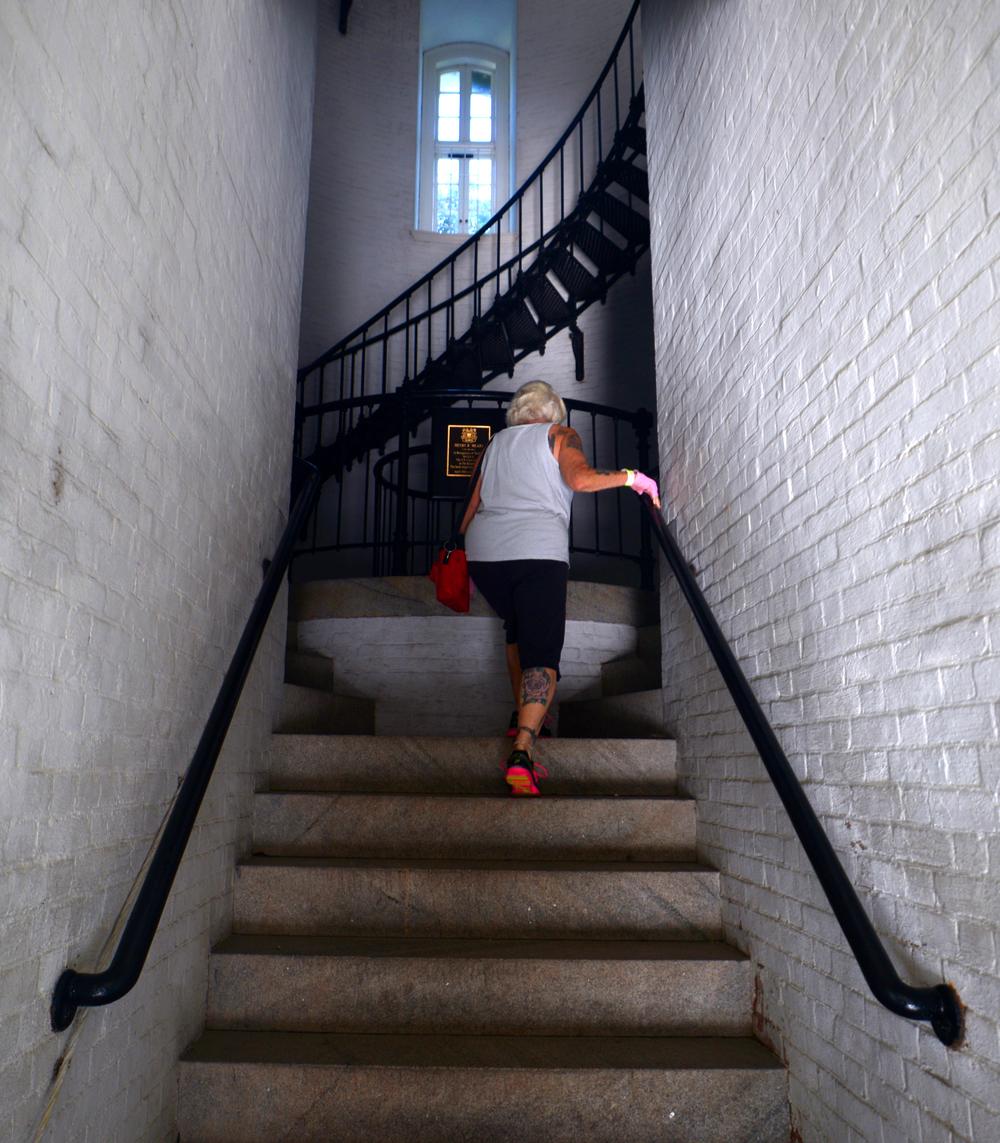 ALEX.SANCHEZ@STAUGUSTINE.COM Nanci Robinson enters the St. Augustine Lighthouse on August 5, 2014