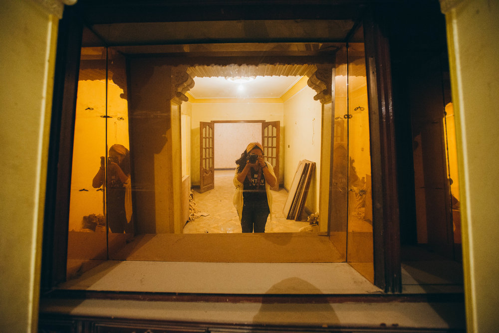 A workaway job in Giza, Egypt. I had to sweep dusty floors in an abandoned building that was to be turned into a new hostel.