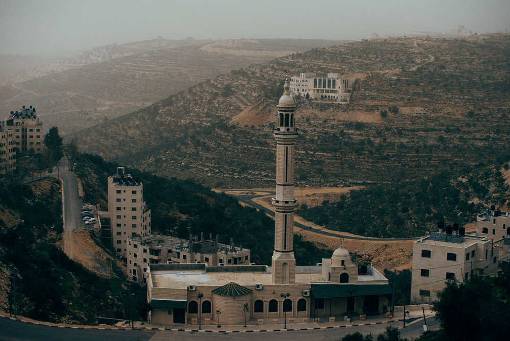 A mosque in Ramallah, Palestine (West Bank).