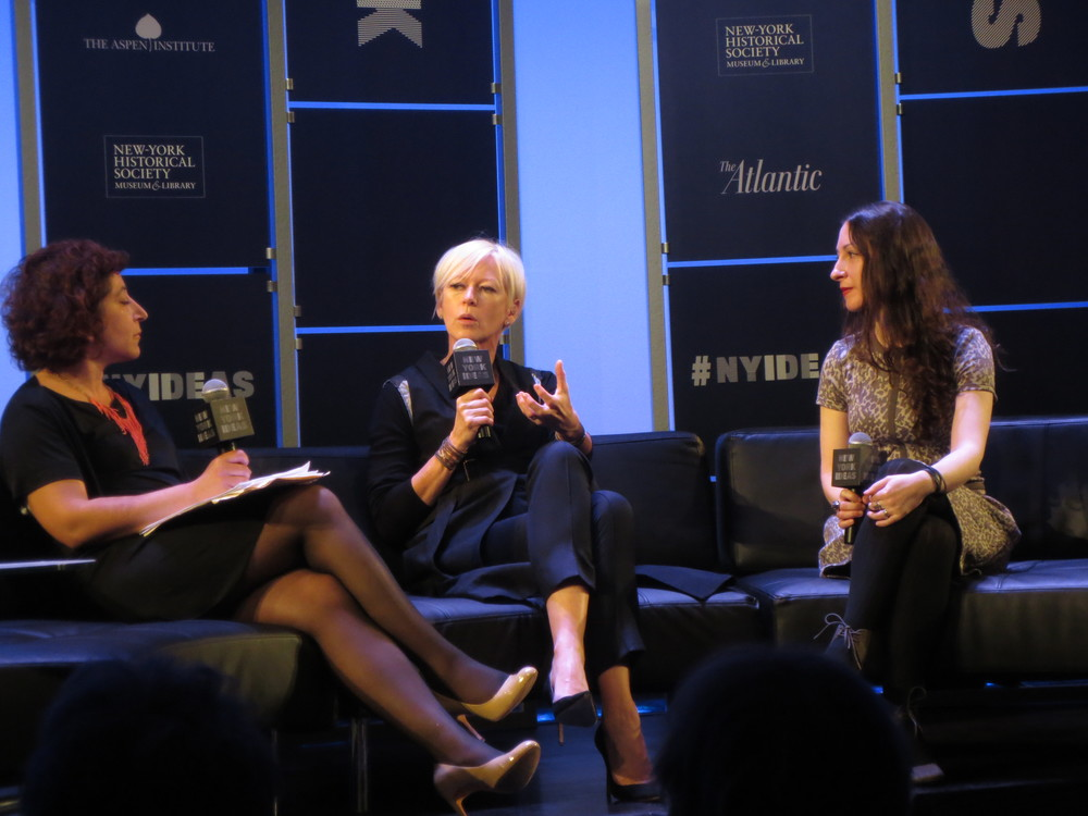 Cosmo's editor-in-chief Joanna Coles talks about stock images of women with Pamela Grossman of Getty Images to Hanna Rosin.