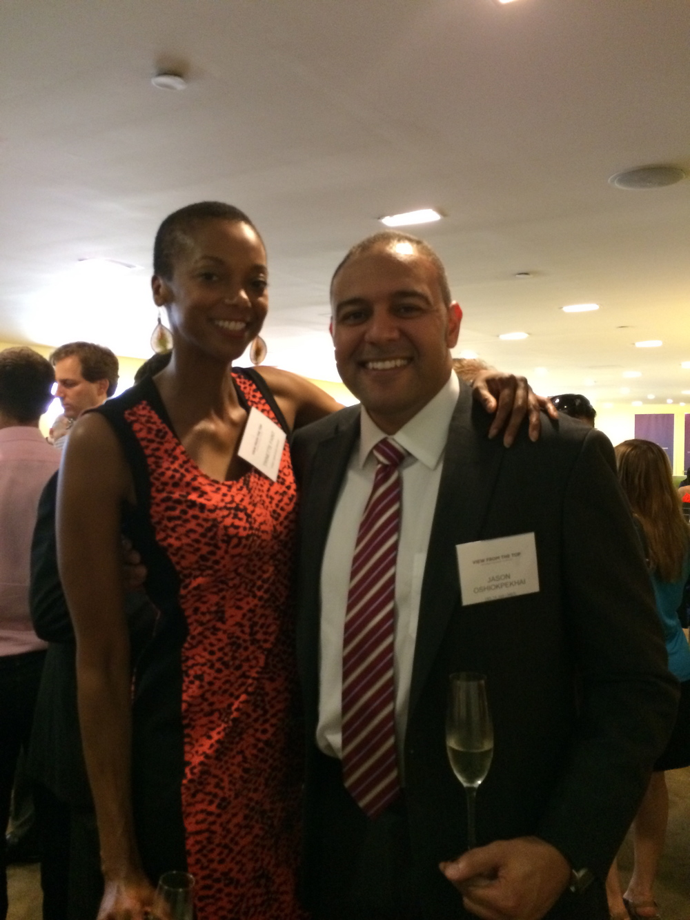 With Delta's Jason Oshiokpekhai.