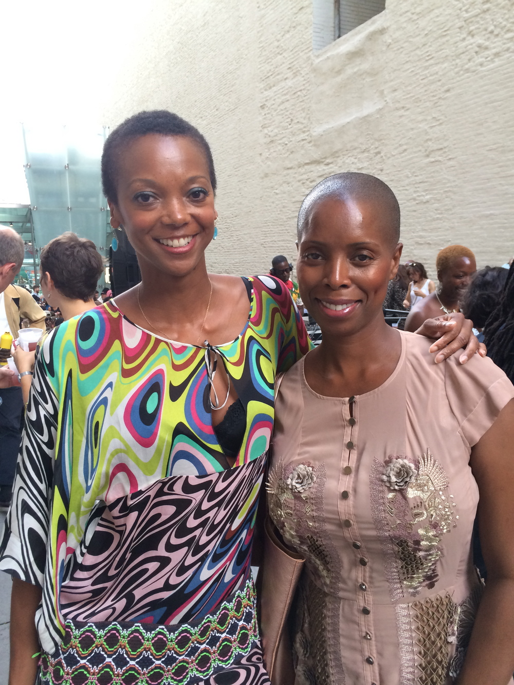 With Sidra Smith, Tasha Smith's twin.