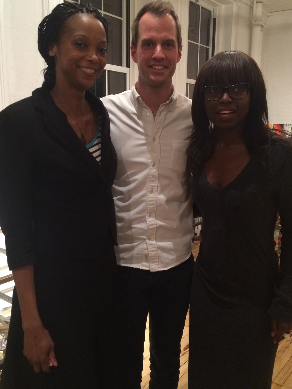 With Philippe Von Borries of refinery29 and Dee Poku-Spaulding of WIE Network.
