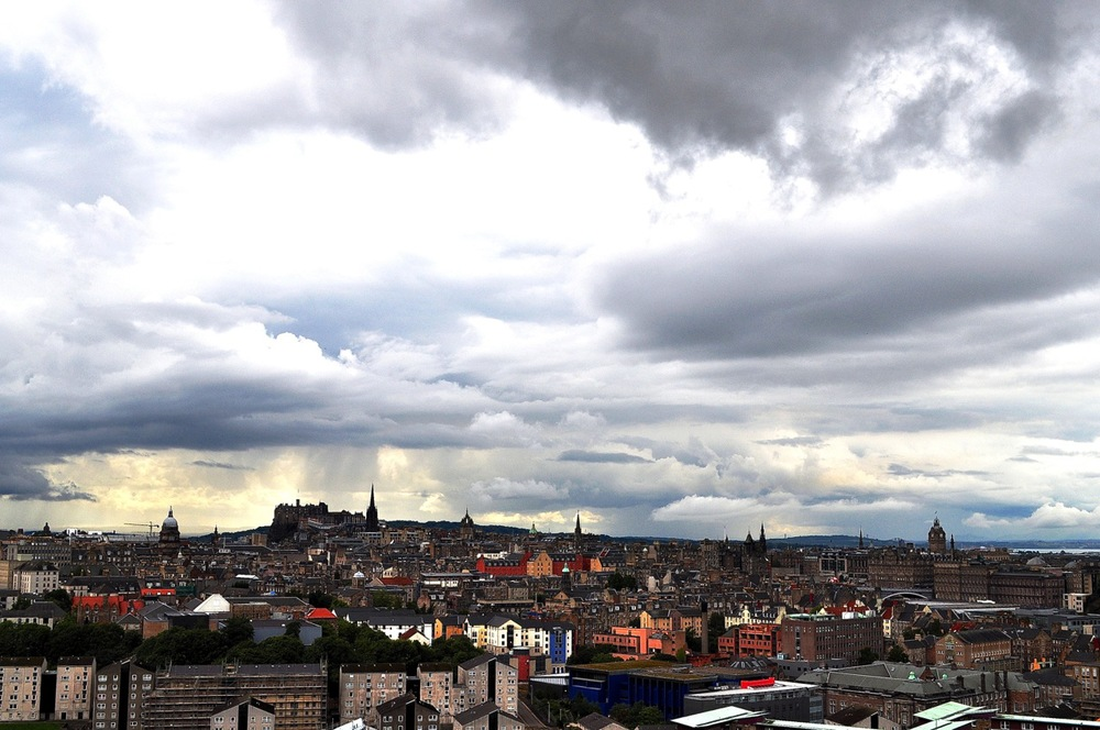 Stormy. Edinburgh. Scotland.