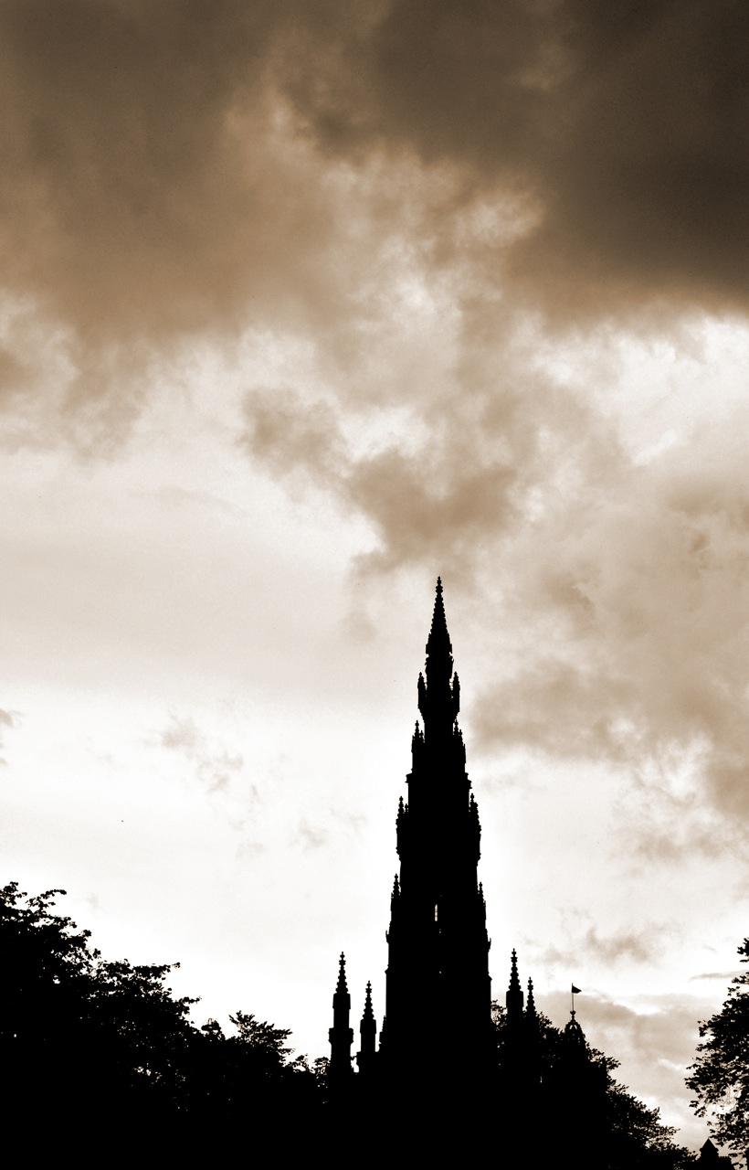 Eerie. Scott Monument. Edinburgh. Scotland.