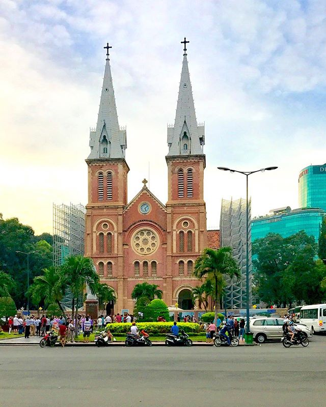 Notre Dame, Saigon! ... ... ... #notredame #saigon #hochiminhcity #vietnam #visitvietnam #southeastasia #condenasttraveler #bbctravel #lonelyplanet #travelandleisure #natgeotravel #travel #instatravel #travelgram #photography #travelphotography #photooftheday #picoftheday