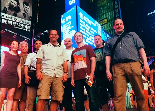 We actually ran into the DP and his crew in NYC by chance. He was so curious to how this thing was going to turn out. It was an awesome reunion to see everyone at the actual billboard. Image by  Peter Nelson