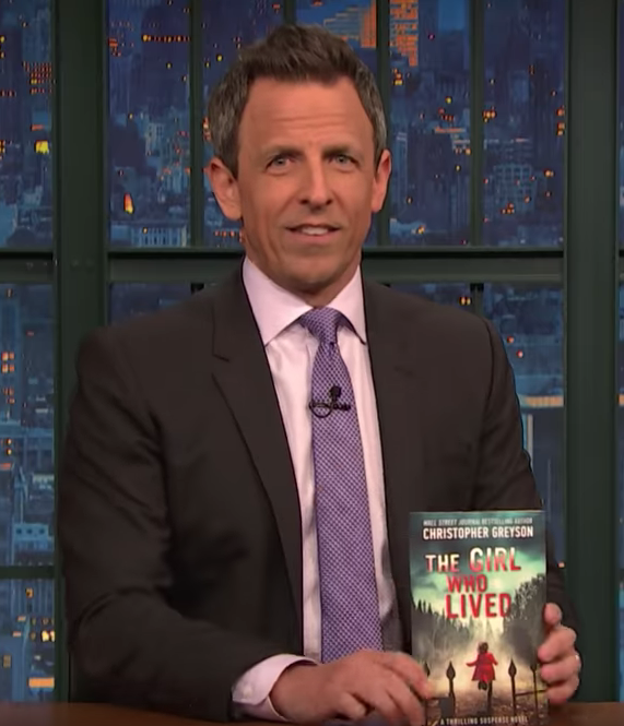 Fred Armisen guesses the plot of Christopher Greyson's The Girl Who Lived using only the book's cover.