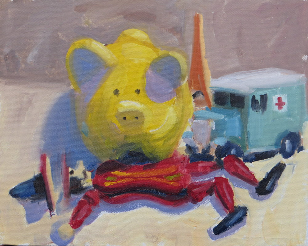 Still Life Stuyd wiht Pig 8x10 oil on canvas 2014.jpg