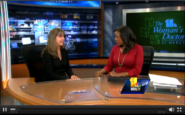 Dr. Dana Simpler on WBALTV discussing healthy holiday tips.