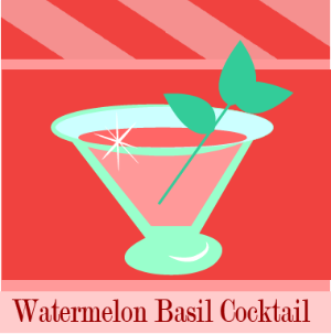 watermelon basil cocktail