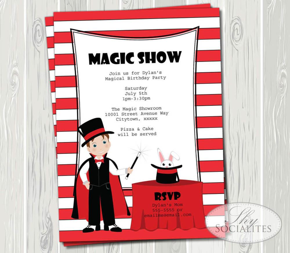 Magic Show Invitation — Shy Socialites