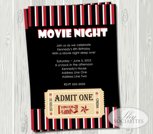 movie ticket invitation shy socialites