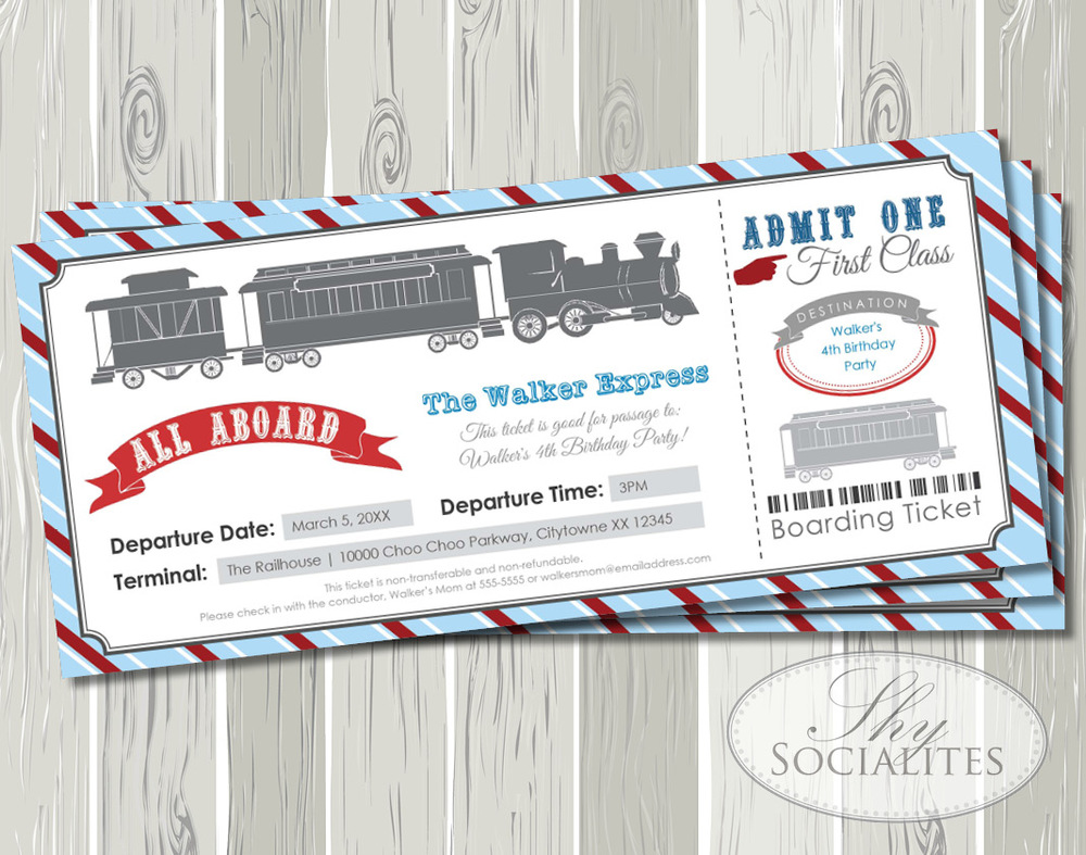 Blue red railroad train boarding pass ticket invitation shy blue red railroad train boarding pass ticket invitation shy socialites filmwisefo
