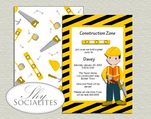 Construction Birthday Invitation Cons1PNG
