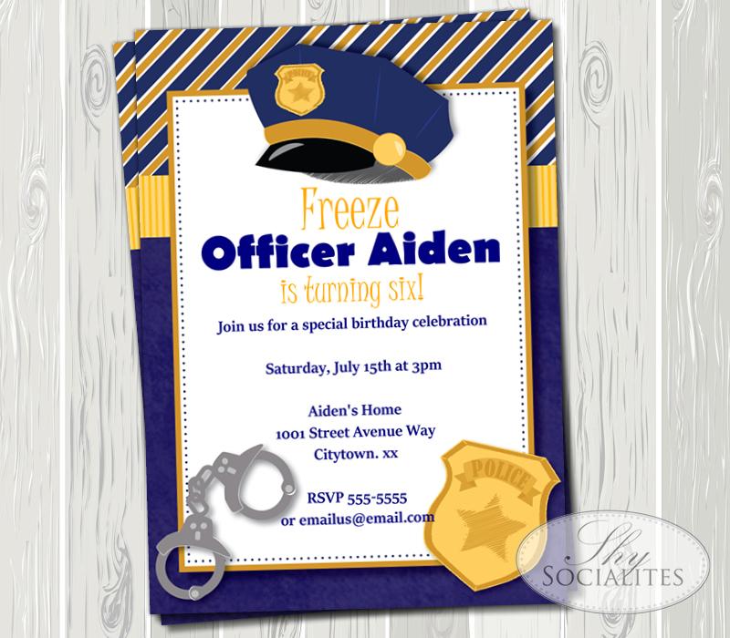 police invitation  u2014 shy socialites