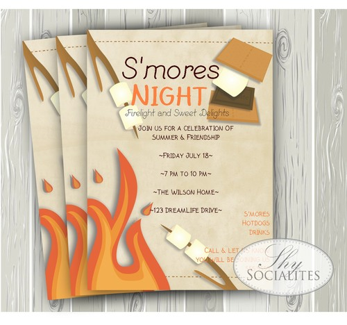 Smores Night Invitation Smore1