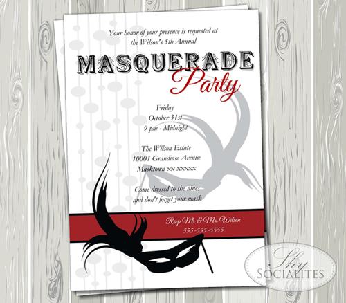 Masquerade Party Invitation Shy Socialites