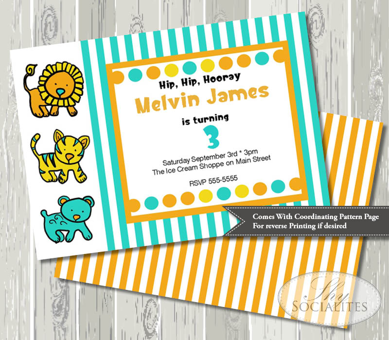 These Cute Invitations were made for YOUR party!