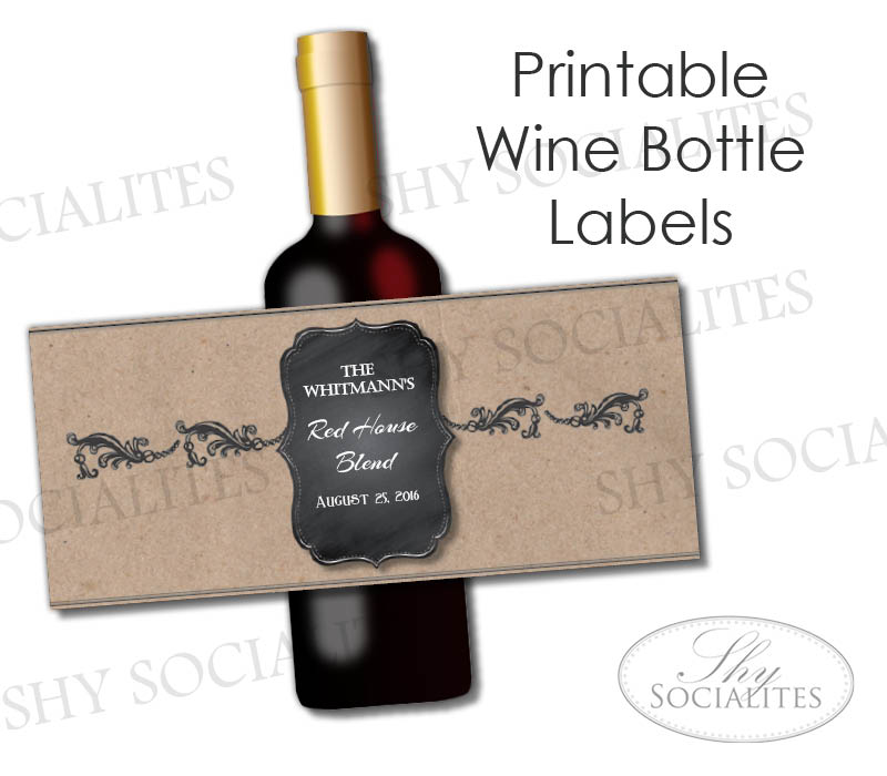 It is a photo of Remarkable Wine Labels Printable
