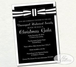 Christmas shy socialites black white formal invitation stopboris Gallery