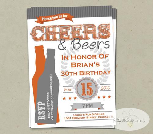 Cheers Beers Invitation Shy Socialites