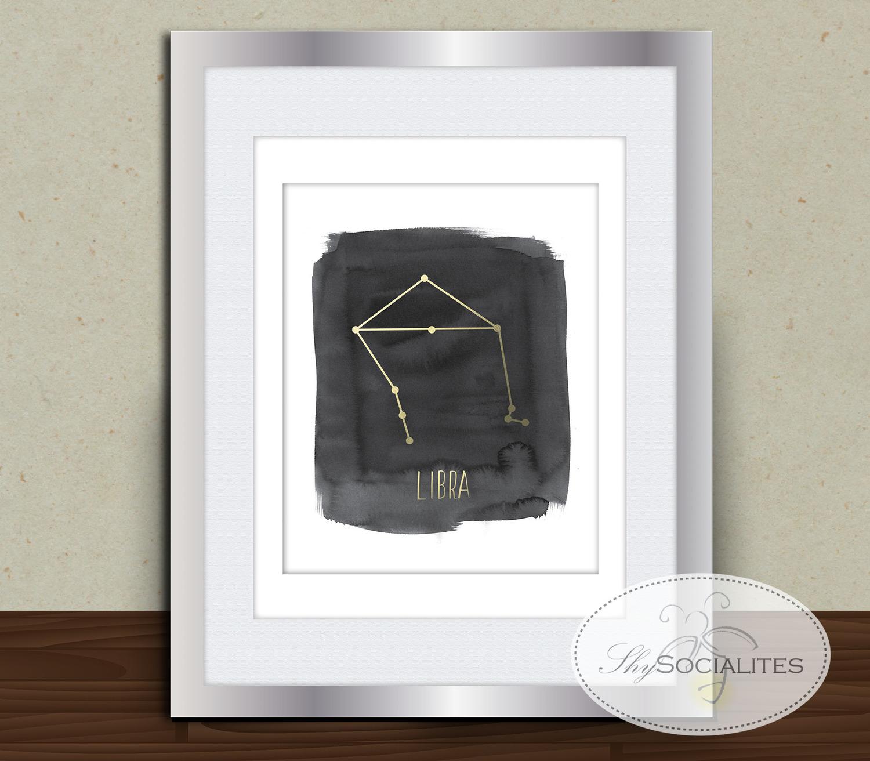 Libra constellation zodiac wall art