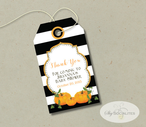 Printable Pumpkin Gift Tags Shy Socialites
