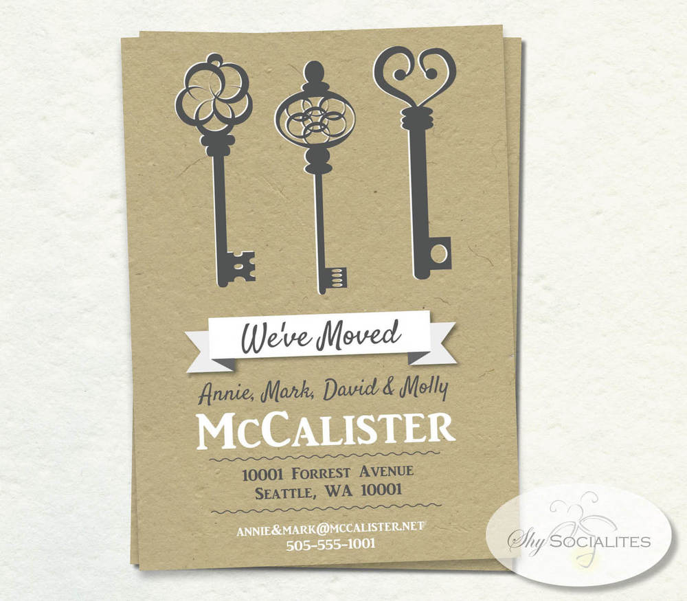 This key invitation would be perfect for a hosuewarming, valentine party or to celebrate finding the key to your heart!