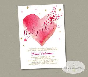 Valentine S Baby Shower Invitation Shy Socialites