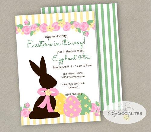 Chocolate Easter Bunny Invitation. easterbun202.jpg