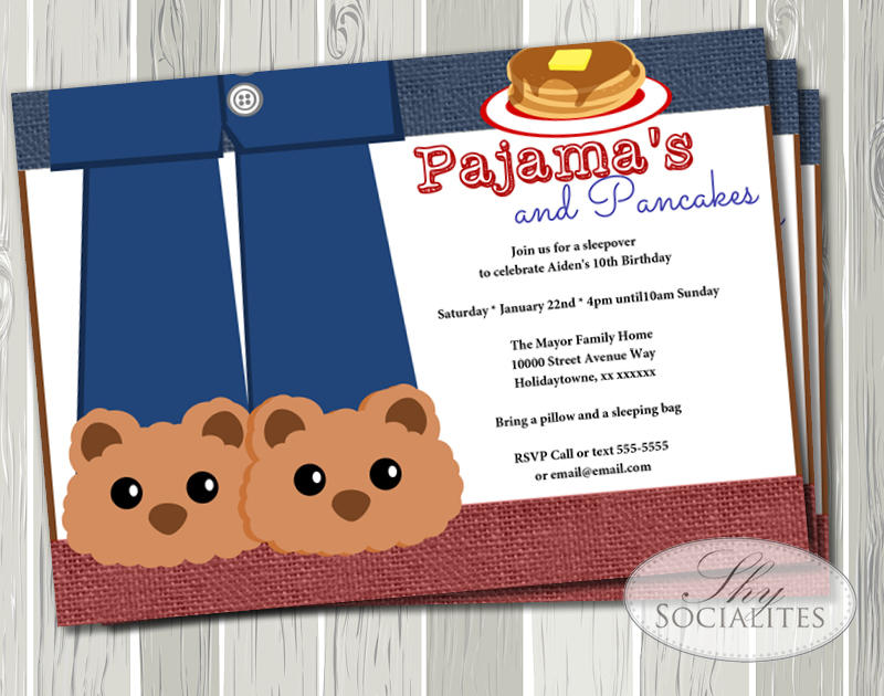 Pancakes and Bear Slippers!